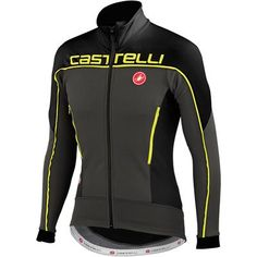 Castelli Mortirolo 3 Jacket - Anthracite/Black/Yellow fluo | Castelli Cafe UK