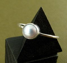 #JessicaCoxJewelryArtfire on Artfire                #ring                     #Pearl #Ring #Sterling #Silver #Made #Order #June #Birthstone                 Pearl Ring - Sterling Silver - Made to Order - June Birthstone                                          http://www.seapai.com/product.aspx?PID=69702