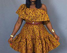 Vêtements africain, robe épaule, imprimé africain, robe wax, usure africain, maxi jupes, dashiki, mini robe, mini jupe