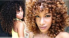 Honey Blonde Color Tutorial on Curly Hair│Blushing Bundles http://www.meridahair.com/detail/190.html