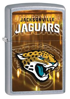 Zippo NFL Jacksonville Jaguars Street Chrome Windproof Lighter *** This is an Amazon Affiliate link. Click image for more details.