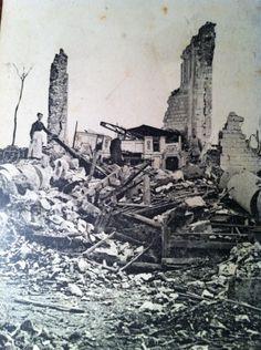 WW1, Bouzincourt, ruins of the church.