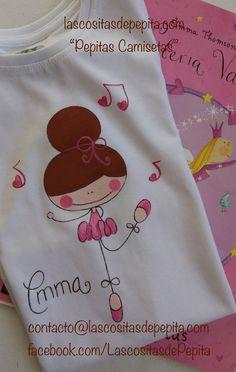 Las cositas de Pepita: Camisetas y Bodys pintados a mano. Hand Embroidery Designs, Diy Embroidery, Newborn Girl Dresses, Paint Shirts, Towel Crafts, Baby Art, Camping Crafts, Fabric Painting, Diy For Kids