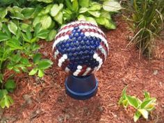 Nell's red, white and blue bowling ball created a sensatiion