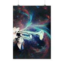Tromba Suono Musica Strumento Matte/Glossy Poster A2 (60cm x 42cm) | Wellcoda