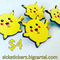 #Repost @sick_stickerz  SALE!!!!! Puffy Pikachu pin is $4!!! Who knows when the sale will end might be 24hrs might be 1hr! So go to my link in my bio now and purchase this pin for $4! (Originally $7.50)  sickstickerz.bigcartel.com  #pin #pins #enamelpin #enamelpins #pincollection #pinaddict #streetart #popart #lapelpin #lapelpins #pingod #pinlife #pinsofig #pinstagram #pingame #pincollection #pokemongo #pokemon #pikachu #pinsale #pinsforsale #pinspired    (Posted by https://bbllowwnn.com/)…