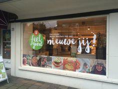 Weight Watchers store in Den Haag - nieuwe raamstickers