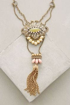 Tiered Tassel Pendant Necklace #anthrofave