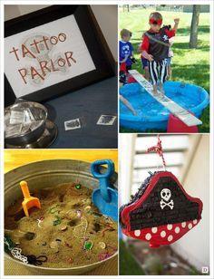 anniversaire pirate jeu atelier tatouage pinata parcours planche chasse tresor creuser dans le sable
