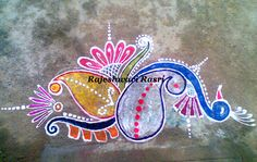 Ganesh Rangoli, Peacock Rangoli, Indian Rangoli, Flower Rangoli, Rangoli Designs Diwali, Diwali Rangoli, Kolam Designs, New Year Rangoli, Good Morning Happy