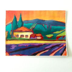 Simple Tuscany original acrylic painting by cerropaint on Etsy, $125.00