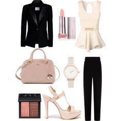 A Day at Work by angelikath on Polyvore featuring polyvore, fashion, style, Jane Norman, Pierre Balmain, Balenciaga, Anne Michelle, Furla, Olivia Burton and NARS Cosmetics