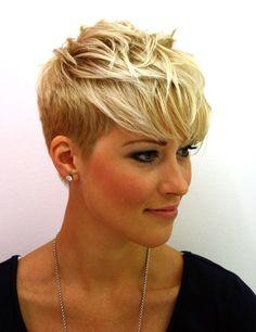 women haircut long on top, short sides - Google Search