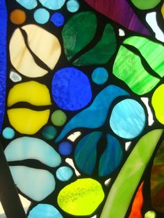 STAINED GLASS, MARINE PANEL, detail, BY ALBERTO GUTIERREZ LA MADRID aka osalgulama