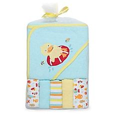 image of Cutie Pie® 6-Piece Little Ducky Towel and Washcloth Set in Aqua