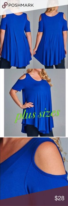 Plus size tunics Gorgeous royal blue plus size tunics - 95%rayon 5%spandex. price is firm Boutique Tops Tunics
