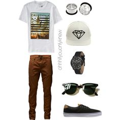 Untitled #240 by ohhhifyouonlyknew on Polyvore featuring Aéropostale, Vans, Diamond Supply Co., Vestal, Jack & Jones, Ray-Ban, menswear, tomboy, lgbt and androgynous