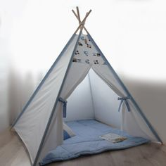 Kids teepee blue cars - Playhouse - Teepee - Kids gift - Baby gift - Childrens gift - Boys teepee - Play tent