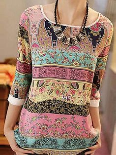 Shop Floryday for affordable XXL Blouses. Floryday offers latest ladies' XXL Blouses collections to fit every occasion. Look Fashion, Latest Fashion Clothes, Fashion Outfits, Fashion Trends, Trendy Fashion, Blouses For Women, Women's Blouses, Ladies Blouses, Chiffon Blouses