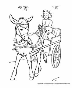 Print Out Cowboy coloring page picture of cowboy riding a