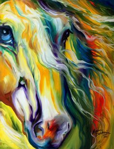 """""""Chasing Storms Equine Abstract"""" par Marcia Baldwin"""