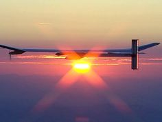 Solar-powered plane aims to fly around the world #Solar #Innovation