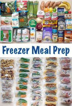 Vacuum sealed freezer meal prep! 72 meals, breakfast items and snacks for a total cost of ~$140. Includes nutrition info, recipes, and a grocery list!