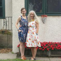 Handmade dresses. True Bias Southport and Colette Patterns Moneta
