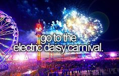 One of the things on my bucket list that I'll finally get to do in 2015- Electric Daisy Carnival