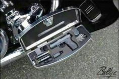 Secret gun compartment for your motorcycle