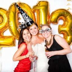 New Year's Eve Wedding Photo Booth
