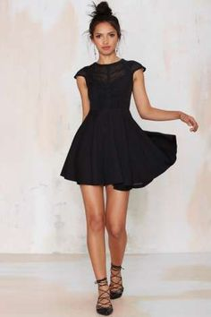 Midnight Wanderer Fit & Flare Dress | Shop Clothes at Nasty Gal!