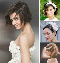 Short Wedding Hairstyles for Bridal - Best Easy Hairstyles Pinterest Short Hairstyles, Formal Hairstyles For Short Hair, 2015 Hairstyles, Short Hair Cuts, Girl Hairstyles, Wedding Hairstyles, Bridesmaid Hairstyles, Hairstyle Short, Medium Hair Styles
