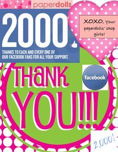 2000 Facebook Fans!
