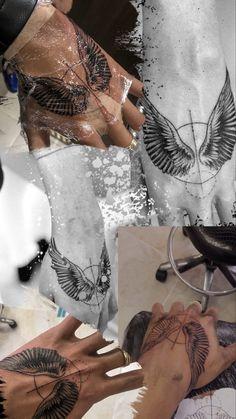 Fist Tattoo, Wing Tattoo Men, Wolf Tattoo Sleeve, Tattoo Sleeve Designs, Arm Band Tattoo, Arm Tattoos Drawing, Cool Forearm Tattoos, Leg Tattoos, Tatoos