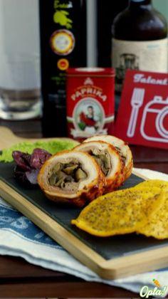 Cicchetti veneziani: rollé di pollo alla paprika affumicata, chips di polenta e purea di piselli #senzaglutine