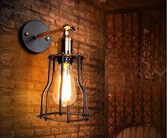 yuewei® Vintage Illuminazione industriale Luci parete E27 Paese ...