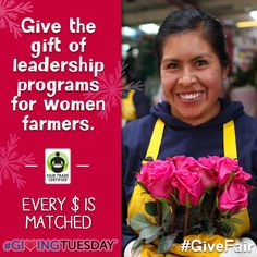 Today is #GivingTuesday! We need YOUR HELP to support #FairTrade farmers & workers. Please consider a donation – Today every $1 will be matched: http://fairtrd.us/GivingMatch #GiveFair #donate #holiday
