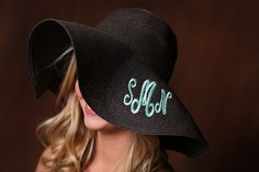 Custom Monogram Floppy Hat - Preppy Headwear by DesignsbyBurnaleeja on Etsy https://www.etsy.com/listing/180809973/custom-monogram-floppy-hat-preppy