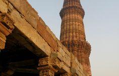 Qutab Minar in Delhi; Privatreise Nordindien - Yoga und Kultur