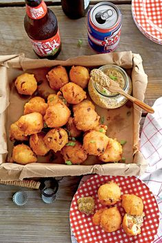 Crispy Andouille Hush Puppies: This crunchy, savory bite is a delicious dockside starter.