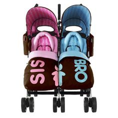 strollers for twins | Cosatto Twin Stroller - Sis and Bro - this is so cute I would love this for whenever I do have kids
