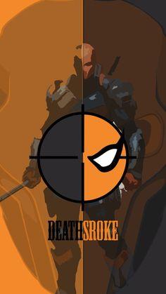 Android/iPhone HD Wallpaper: DEATHSTROKE - Visit to grab an amazing super hero shirt now on sale! Dc Deathstroke, Deathstroke The Terminator, Deadshot, Comic Villains, Dc Comics Characters, Batman Universe, Dc Universe, Univers Dc, Comic Games