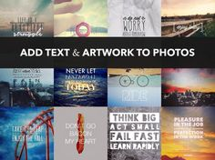 OVER is my favorite app for adding text to photos *great list of app suggestions