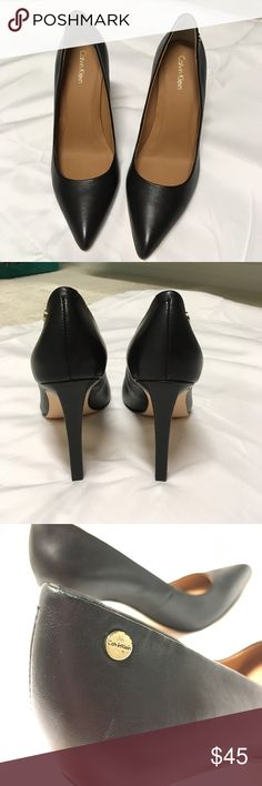Calvin Klein Brady heel New w/o tags.  Never worn.  Printed label under toe part so hard to take a pic! Calvin Klein Shoes Heels