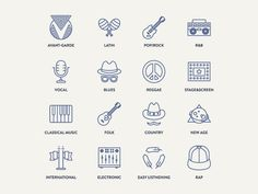Genres icons