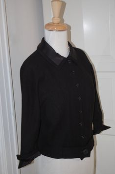 VINTAGE 50s 60s Little Black Jacket  Mad Men  by fourstoryvintage, $54.99