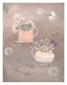 lucy grossmith Original Paintings For Sale, Naive Art, Pattern Illustration, Illustrations, Prints For Sale, Painting Inspiration, Flower Art, Art Prints, Artwork