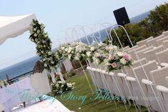 Beautful wedding setup in the sea view garden at Dunas Douradas Beach Club