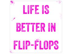 Blechschild+LIFE+IS+BETTER+IN+FLIP-FLOPS+von+INTERLUXE+auf+DaWanda.com